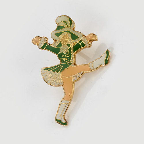 Anstecker - green dancing Mary - small