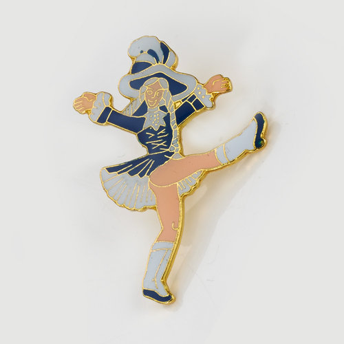 Anstecker - blue dancing Mary - small
