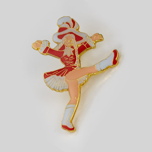 Anstecker - red dancing Mary - small